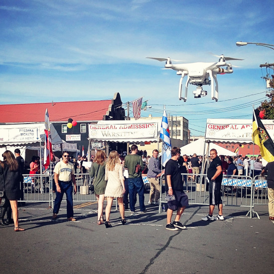 Drone at the North Albany Oktoberfest hosted by Wolff's Biergarten
