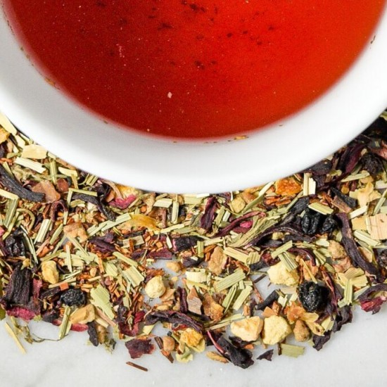 Blood Orange Hibiscus Tea from Saratoga Tea & Honey